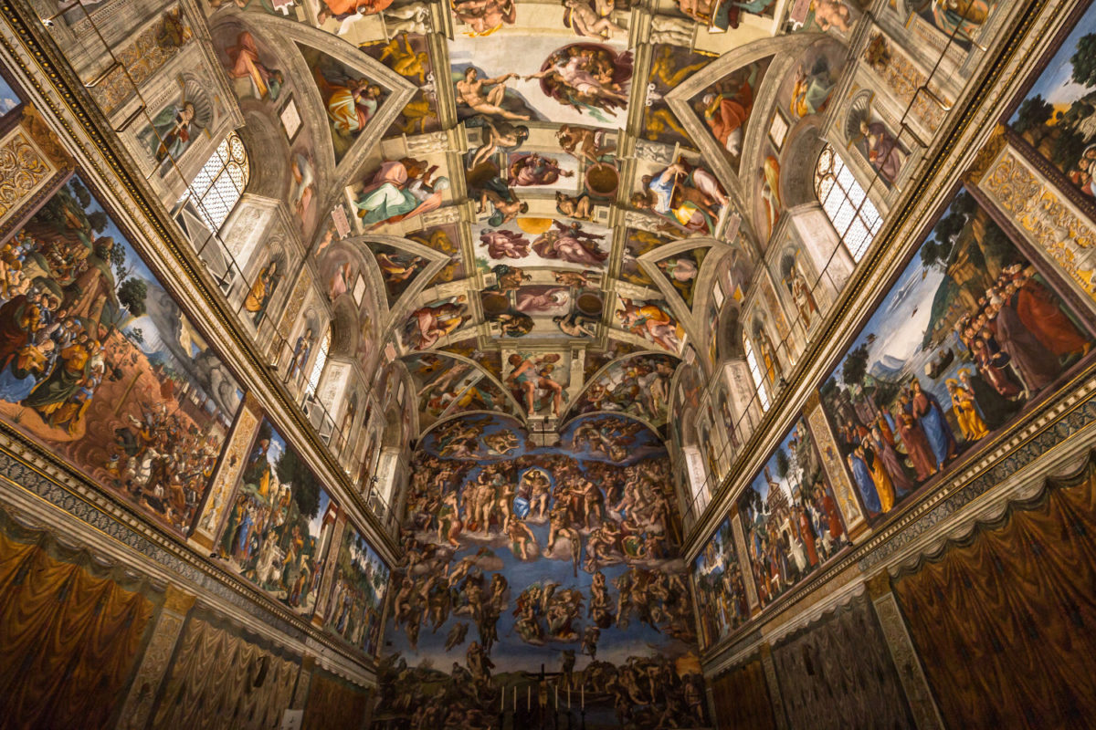Sistine Chapel as seen on my Jewish Vatican tour