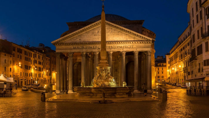 The Pantheon as seen on my Jewish Evening stroll