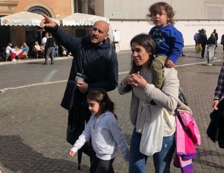 Leading a kids-friendly tour of Rome