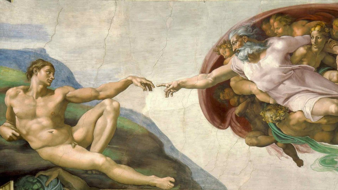 Can Jews go inside the Sistine Chapel? Feature image: Michelangelo - Creation of Adam